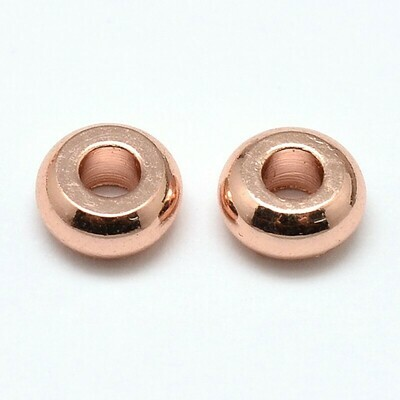 Rose Gold Flat Round Spacer Bead x100 4x1.5mm