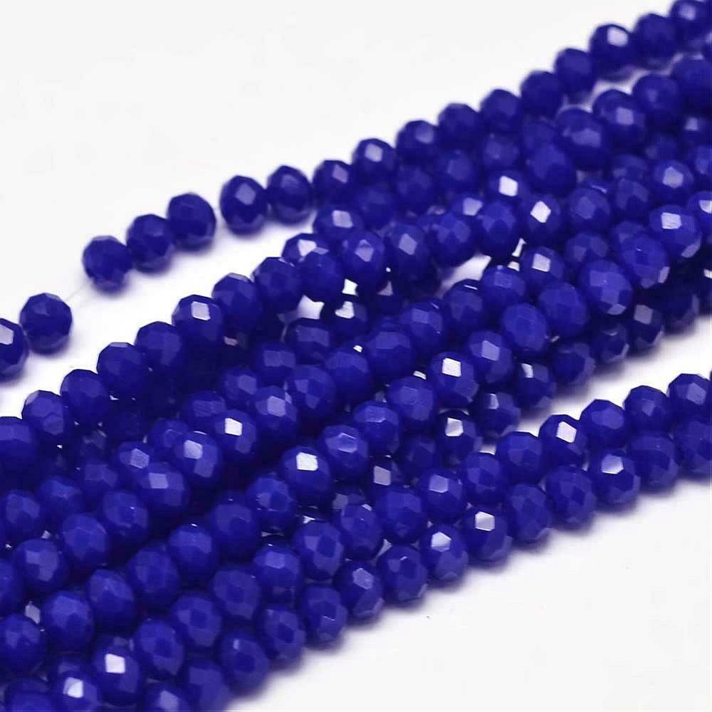 4x3mm Rondelle Chinese Crystal Transparent Cobalt Blue  x130