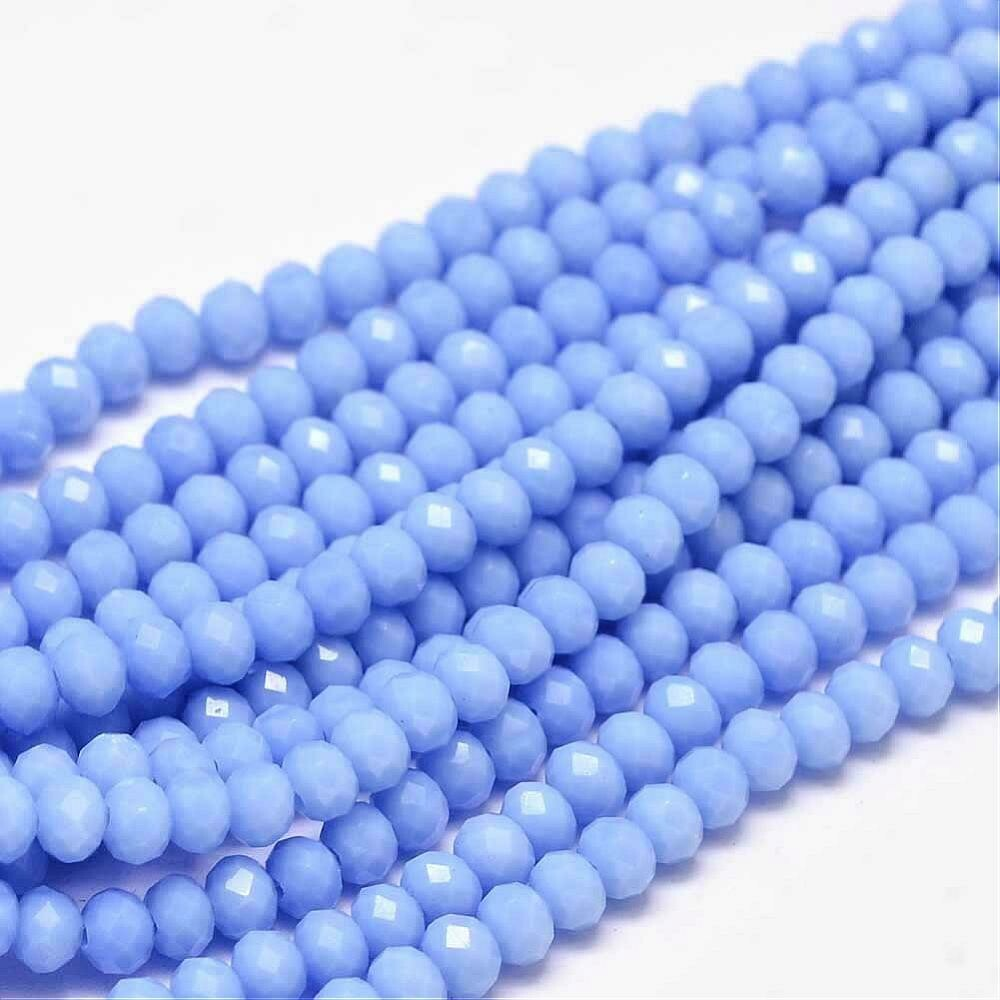 4x3mm Rondelle Chinese Crystal Opaque Cornflower Blue x130