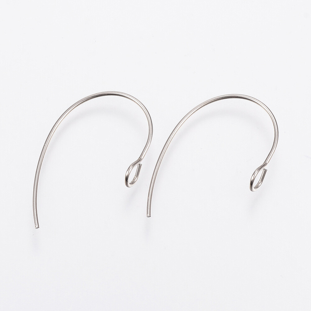Ear Wire 25x14mm Stainless Steel x10