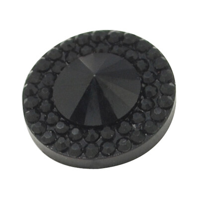 Pointy Resin Cabochon Jet Black 10x4mm