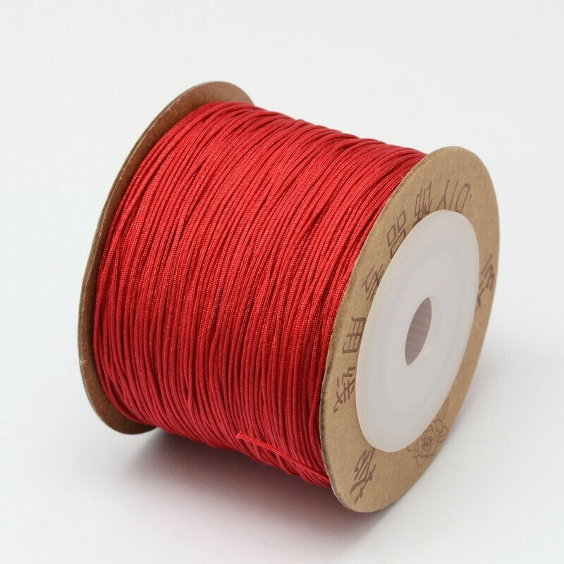.8mm Chinese Knotting Cord  Red x100m