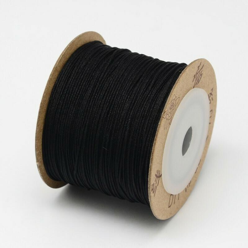 .8mm Chinese Knotting Cord  Black x100m