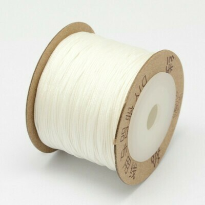 .8mm Chinese Knotting Cord White x100m