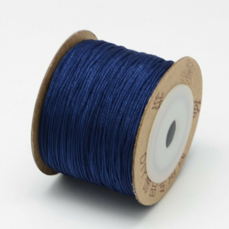 .8mm Chinese Knotting Cord  Navy Blue x100m