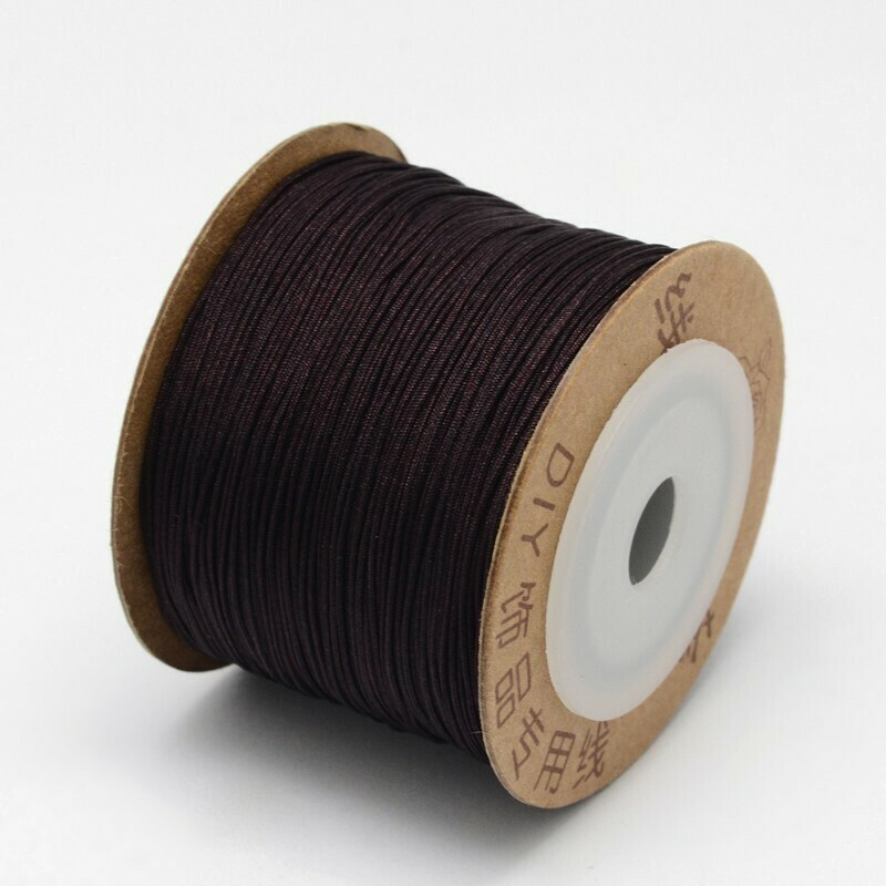 .8mm Chinese Knotting Cord  Dark Coconut Brown x100m