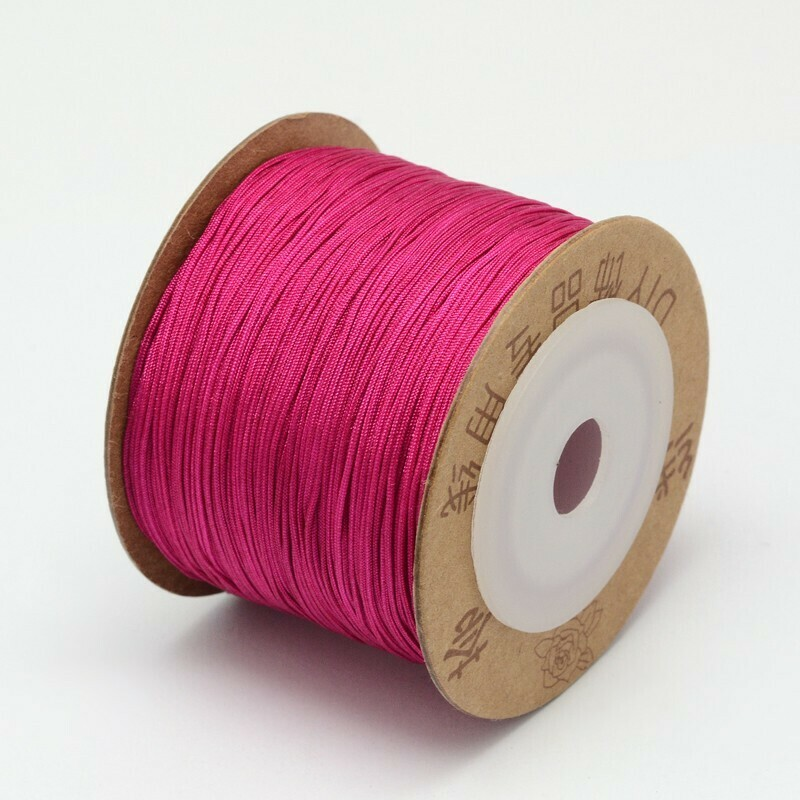 .8mm Chinese Knotting Cord  Dark Pink x100m