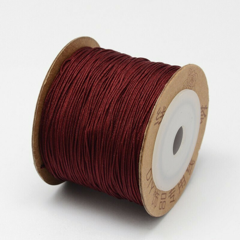 .8mm Chinese Knotting Cord  Crimson Wine Red x100m