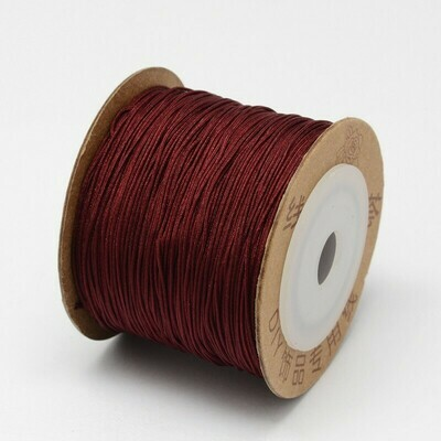 .8mm Chinese Knotting Cord  Crimson Wine Red x100m