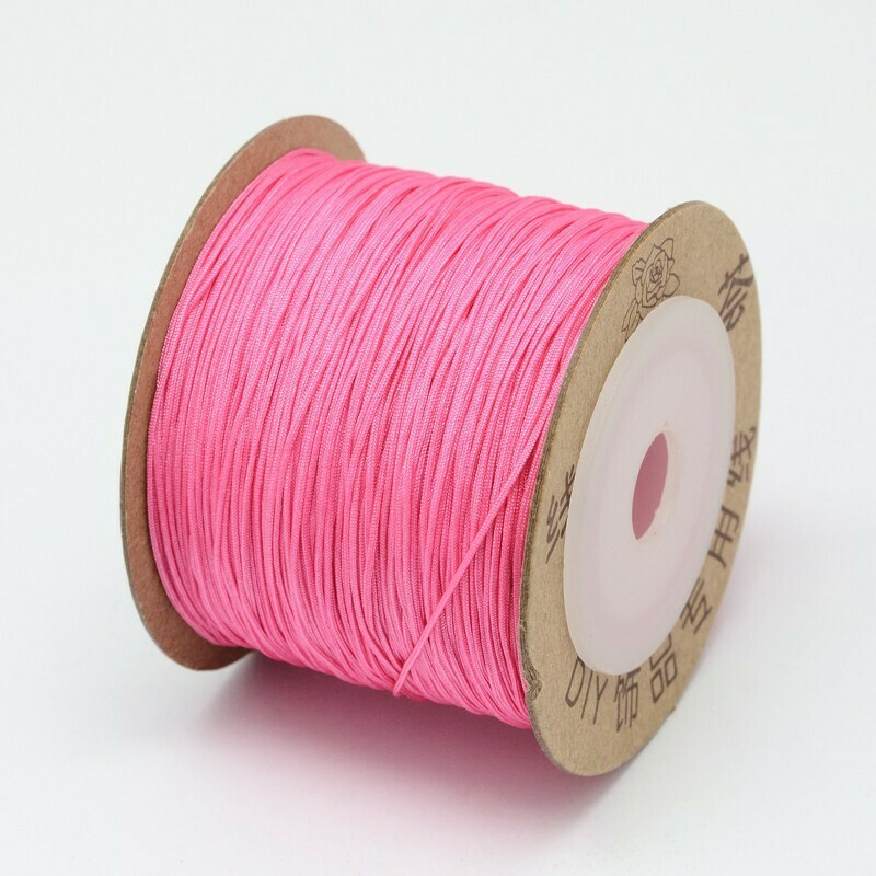 .8mm Chinese Knotting Cord Bright Pink x100m