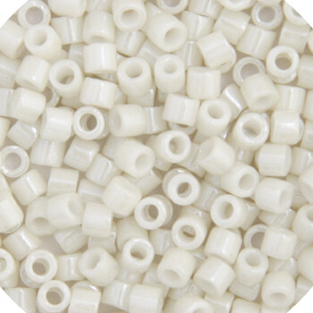 11/0 Delica Miyuki Opaque Alabaster White Glazed  Lustre 211