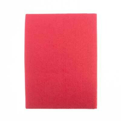 """Felt for Backing Bright Red 8.5x11"""""""