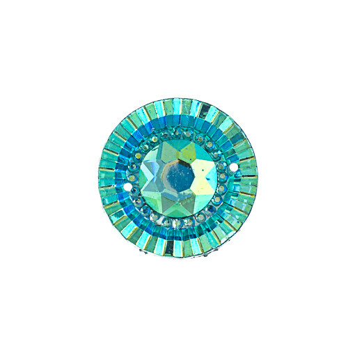 Resin Turquoise Blue AB Round 20mm