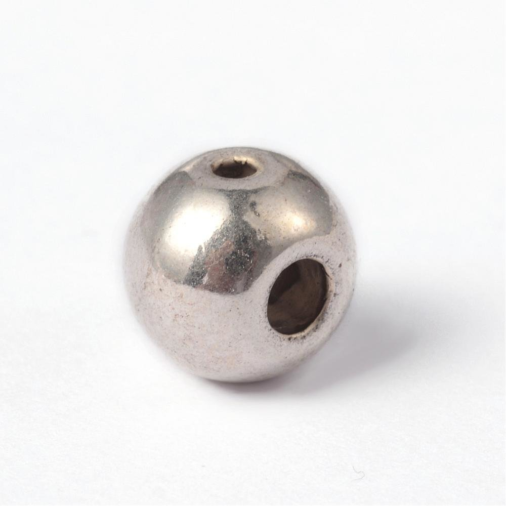 3 Hole Guru Bead Antique Silver  8x7.5mm
