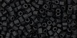 11/0 Hex Toho Opaque Jet Black Matte 49f