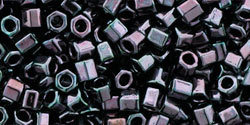 8/0 Hex Toho Opaque Amethyst Gunmetal 90