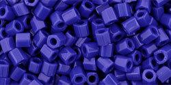 8/0 Hex Toho Opaque Medium Blue 48