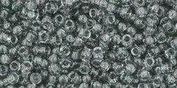 11/0 Round Toho Transparent Black Diamond Grey 9