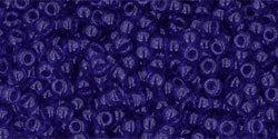 11/0 Round Toho Transparent Cobalt Blue 8