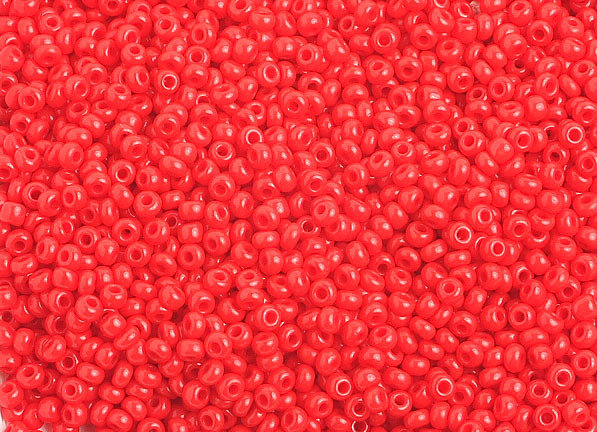 10/0 Round Czech Opaque Light Red 1024