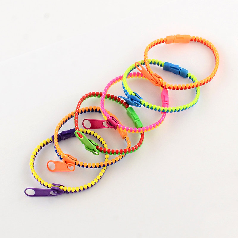 Random Colour Zipper Bracelet