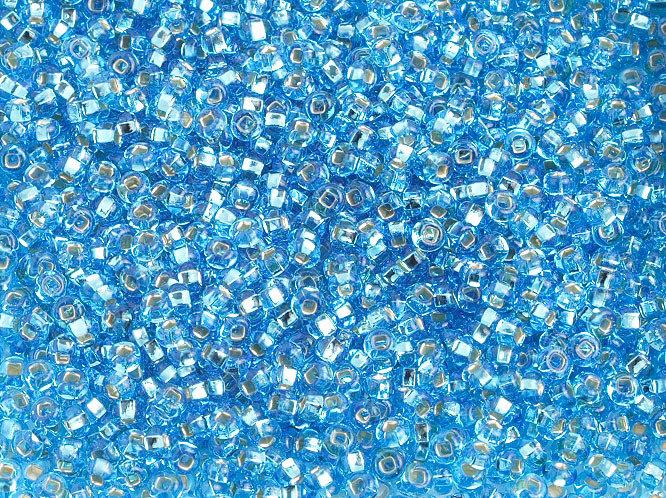 10/0 Round Czech Seed Bead Aqua s/l 1296