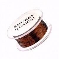 20g Smokey Quartz Copper Wire 10 yards
