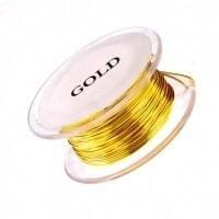 12g Non Tarnish Gold Copper Wire 5 Feet