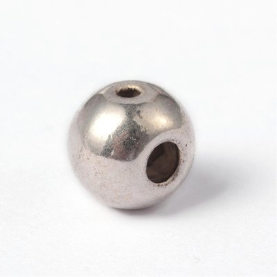 3 Hole Guru Bead Antique Silver  8x7.5mm
