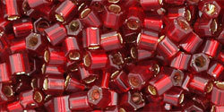 8/0 Hex Toho Ruby Red s/l  25c