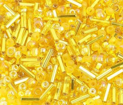 10/0 Round Czech Seed Bead Yellow Mix 1001-08