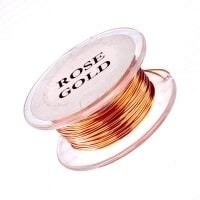 20g Non Tarnish Rose Gold Copper Wire 6 yards