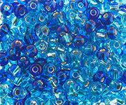 6/0 Round Czech Multi Blue s/l 133
