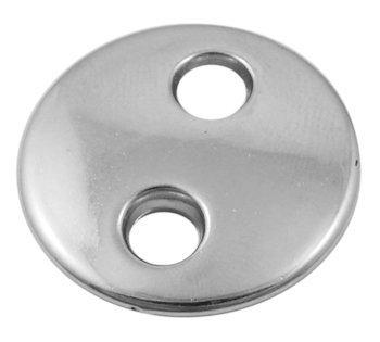 Button Link 2 hole Platinum  27mm