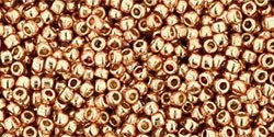 15/0 Round Toho Rose Gold Metallic  pf551