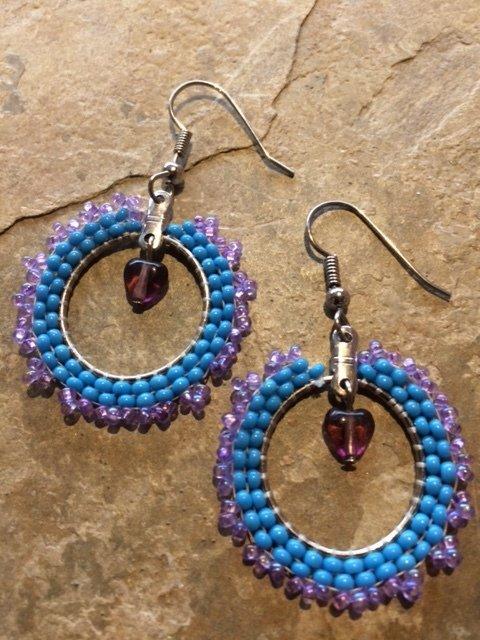 Brick Stitch Earrings Level 6 Hoops