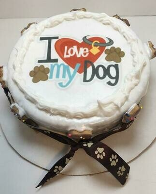 Love my Dog Cake!  - Local Pickup - 2 day notice for baking time.
