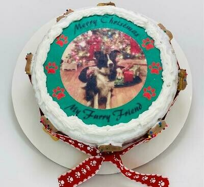 Personalized Christmas Cake For Local Pick Up - 2 day notice for baking time