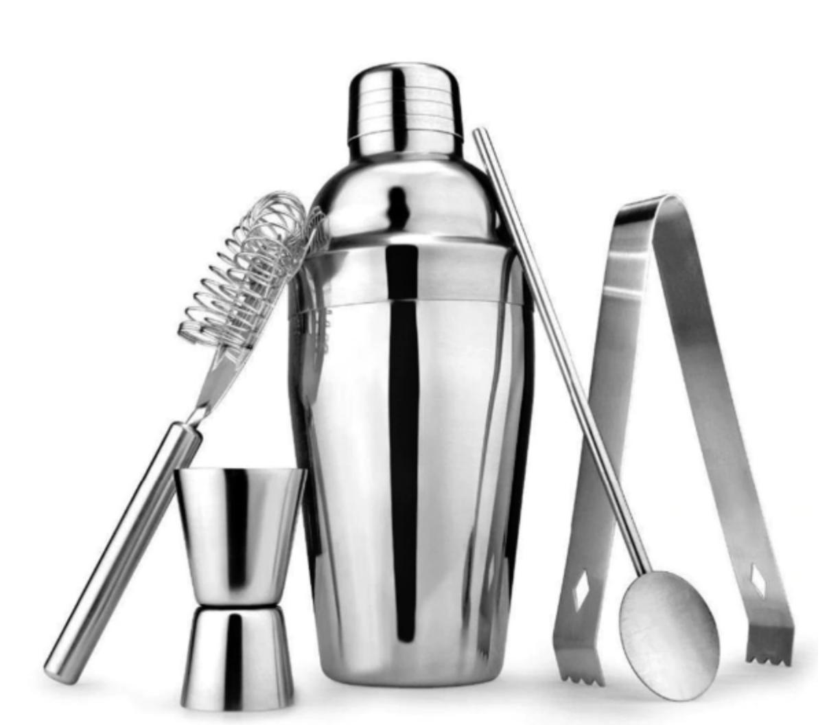 5-ių dalių barmeno rinkinys (Silver)