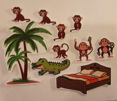 Fem små apekatter