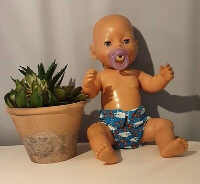 Tøybleie til dukke