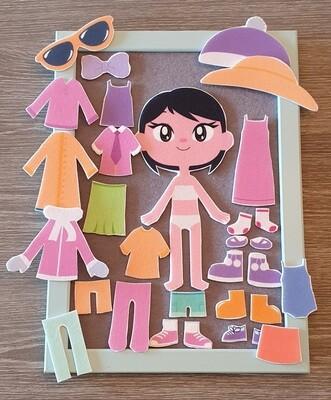 Påkledningsdukke - jente