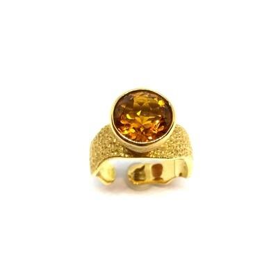 Ring aus 750er Gelbgold mit Madeira Citrin