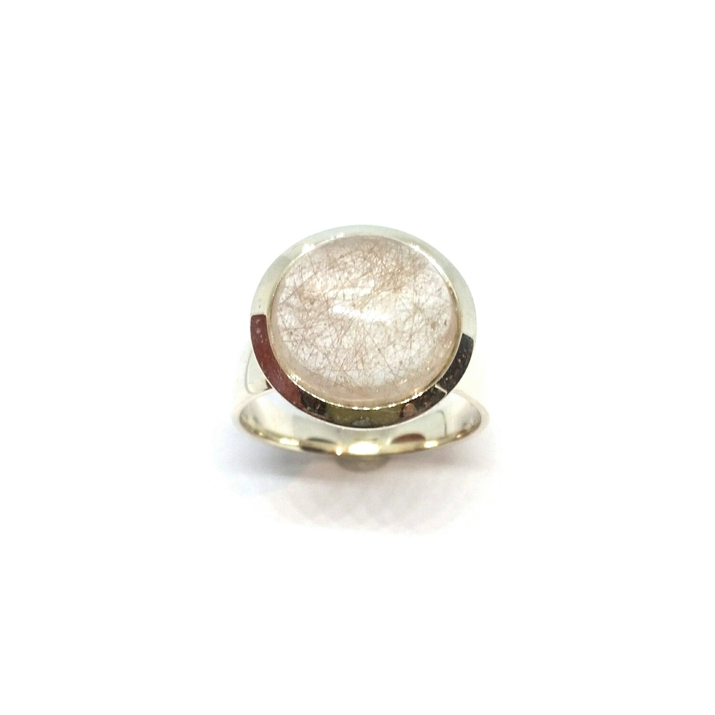 Ring aus 925er Sterlingsilber mit Rutilquarz