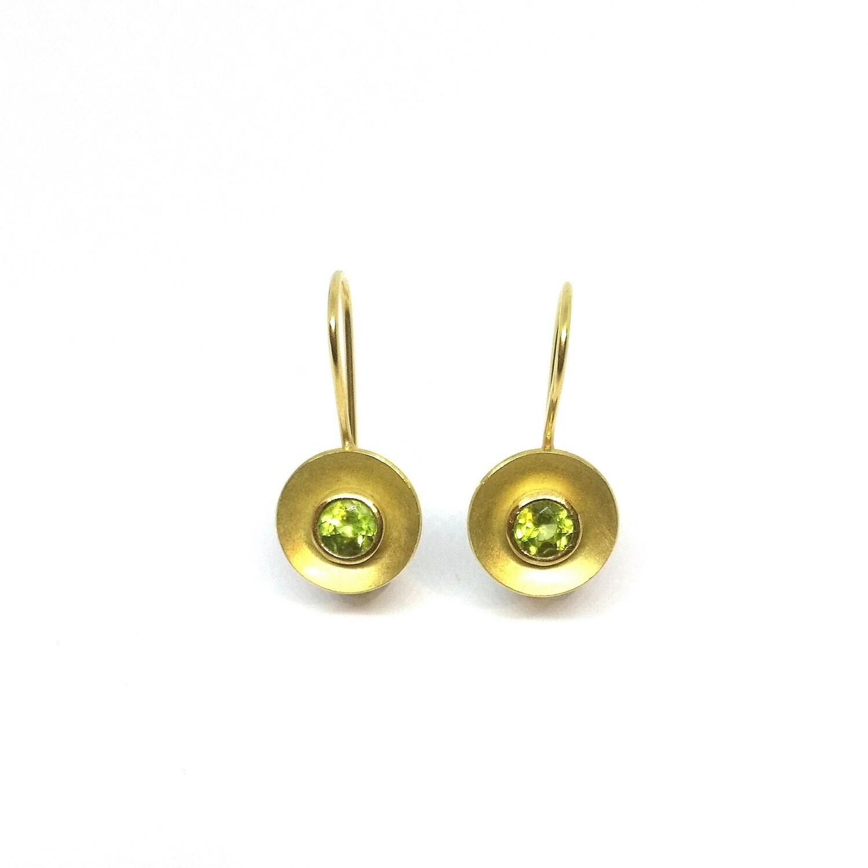 Ohrringe aus 750er Gelbgold mit Peridot
