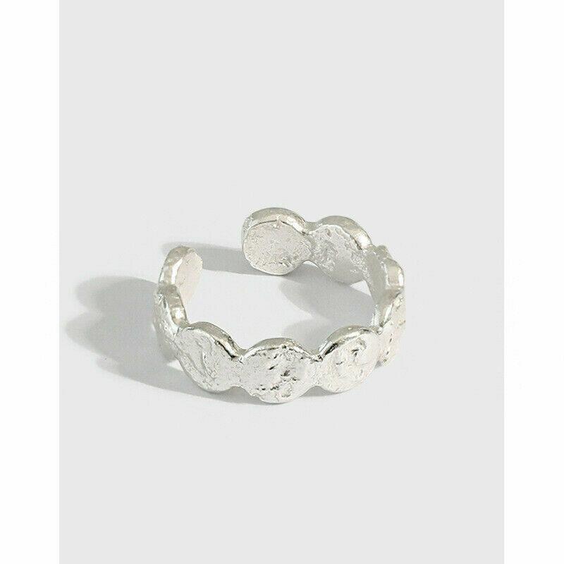 Struktur Ring aus 925er Sterlingsilber