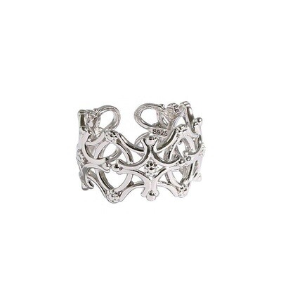Ring aus 925 Sterlingsilber Natur minimalistisch