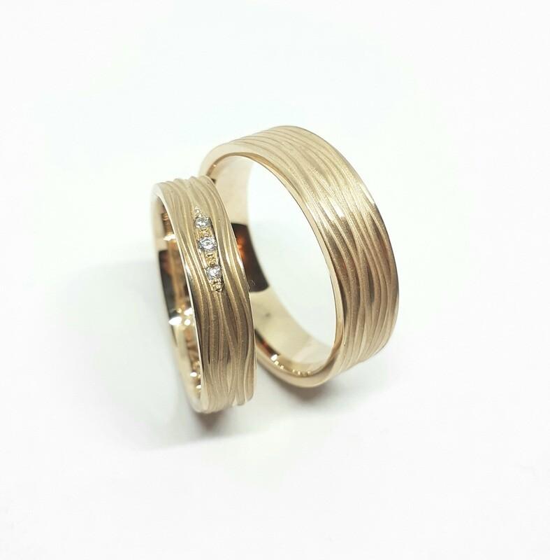 Trauringe Pegasus aus 750er oder 585er Gold mit Diamant Brilliant