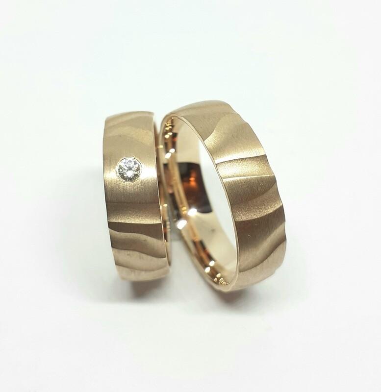 Trauringe Thalasa aus 750er oder 585er Gold mit Diamant Brilliant