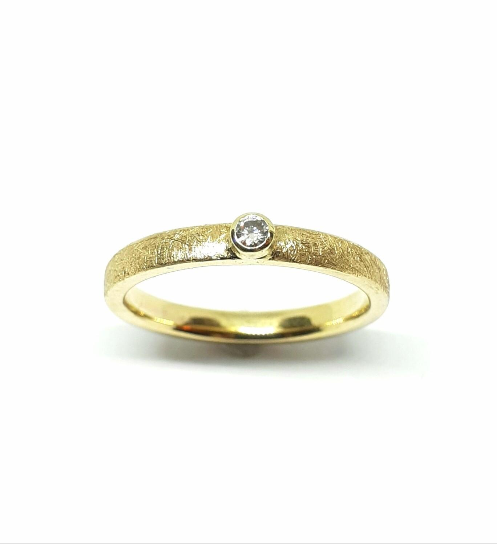 Verlobungsring aus 750er Gelbgold 18K mit Diamant /Brilliant
